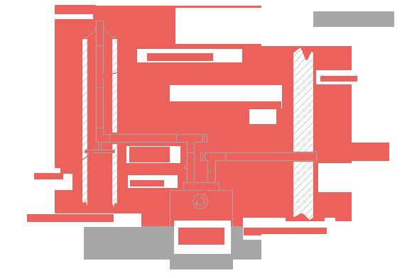 Kondenzációs kémény (szétválasztott megoldás)